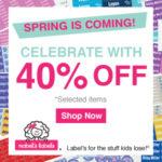 Mabel's Labels:40% off Spring Spectacular Sale