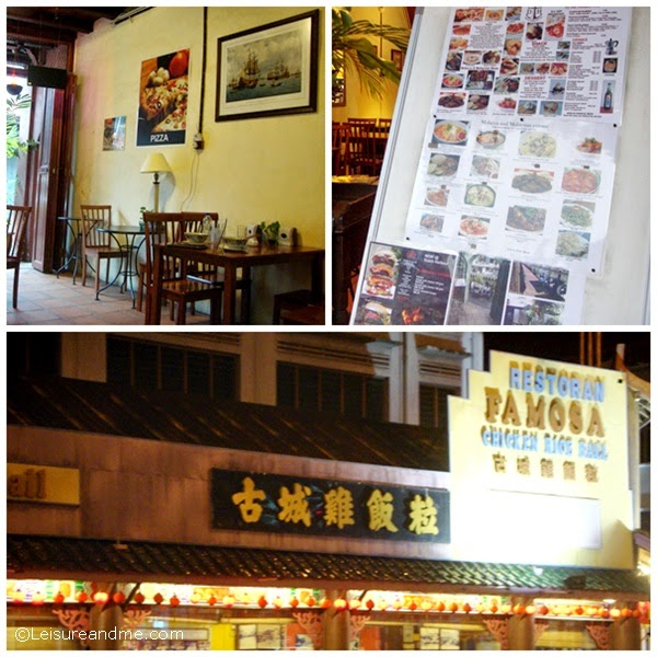 Eating places near The Emperor Hotel, Malacca
