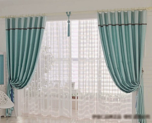 beautiful curtains. french doors with patterned long curtains