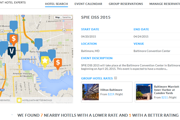 Find Best Hotels at Large Events