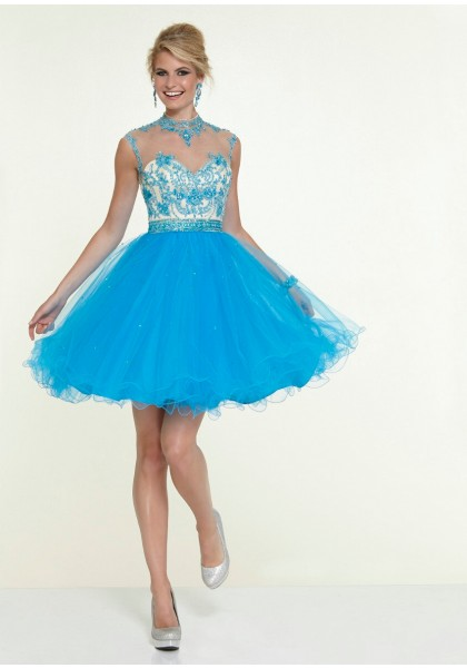Chic Jewel Short Blue Homecoming Dress