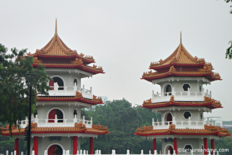 Twin Pagoda-Chinese Garden-Singapore