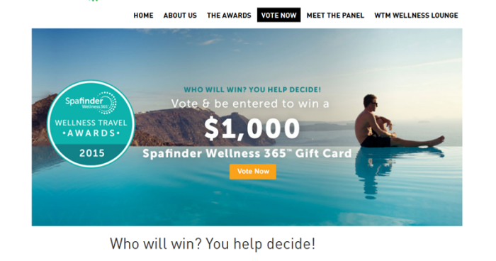 Finalists for Global Wellness Travel Awards