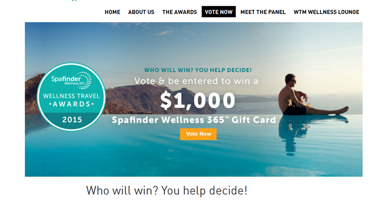 Finalists for the Global Wellness Travel Awards