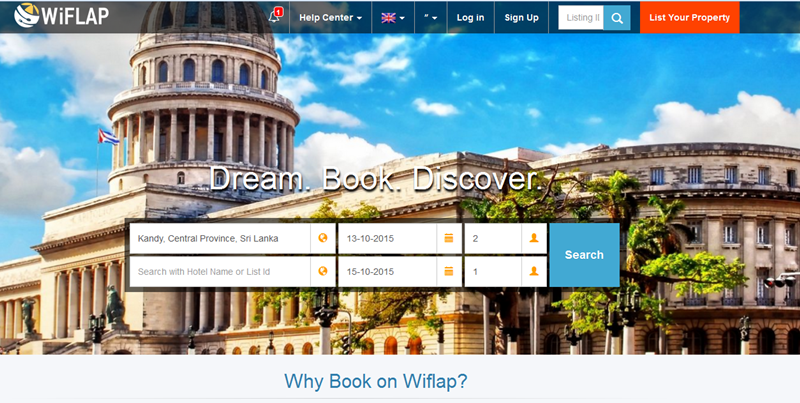 Wiflap.com for holiday bookings