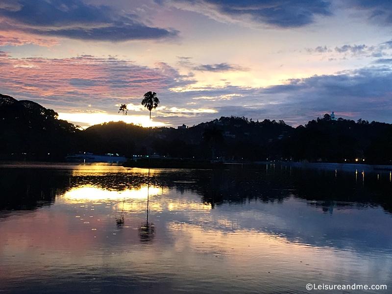 Sunset-over-Kandy Lake - Sri Lanka