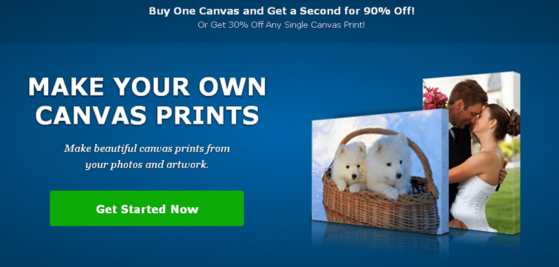 Create canvas prints