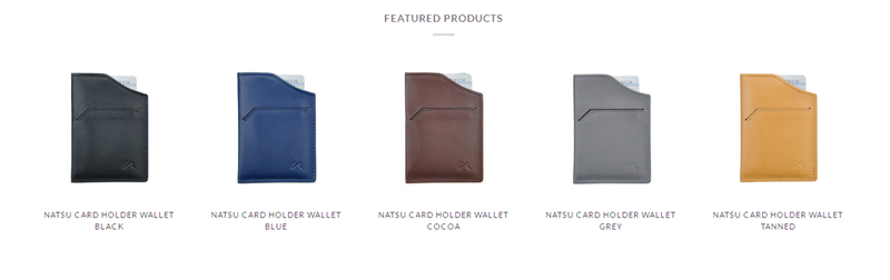 Slim minimalist wallets from Kisetsu
