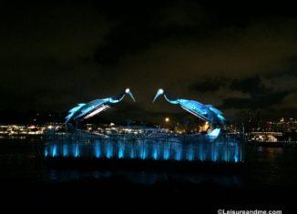 Crane Dance at Sentosa, Singapore