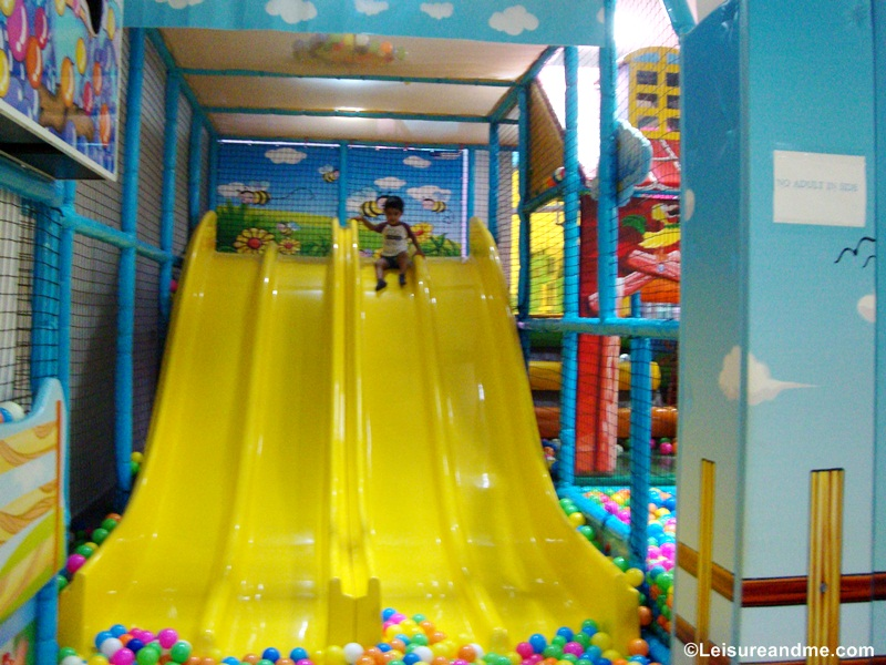 The slides and ball pool of the Toddler Town,Kids City Asia,Phnom Penh,Cambodia