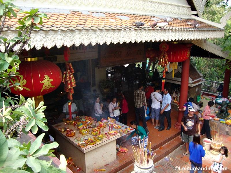 Visiting Wat Phnom - Phnom Penh , Cambodia