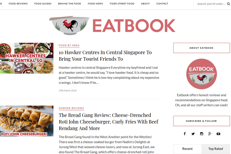 Where to go for Food Guides in Singapore – EatBook.sg