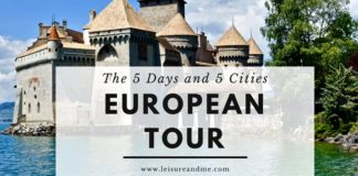 The 5 Days and 5 Cities European Tour