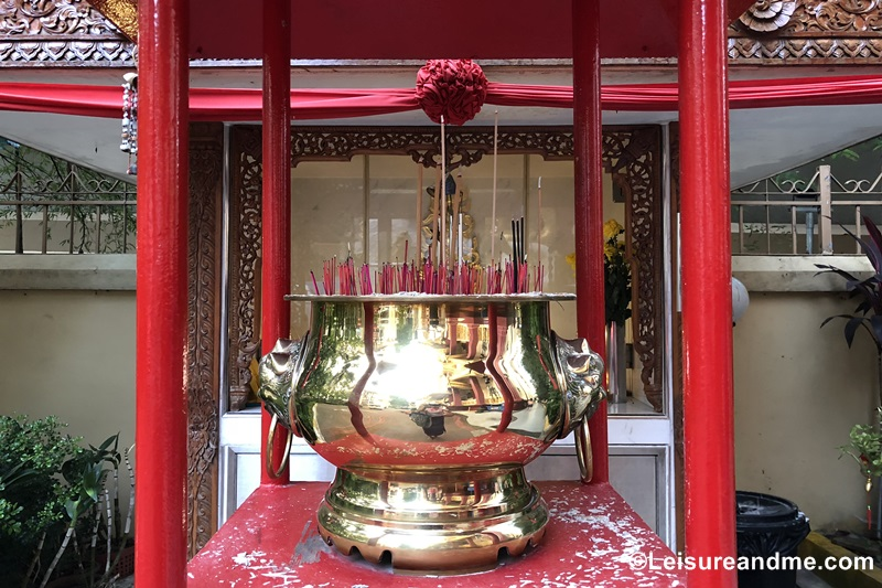 Insence pot at Burmese Buddhist Temple Singapore