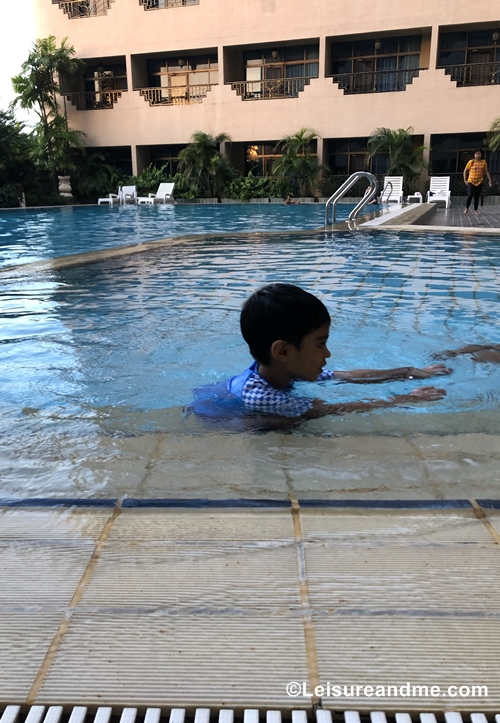 Swimming at Harmoni Hotel-Batam