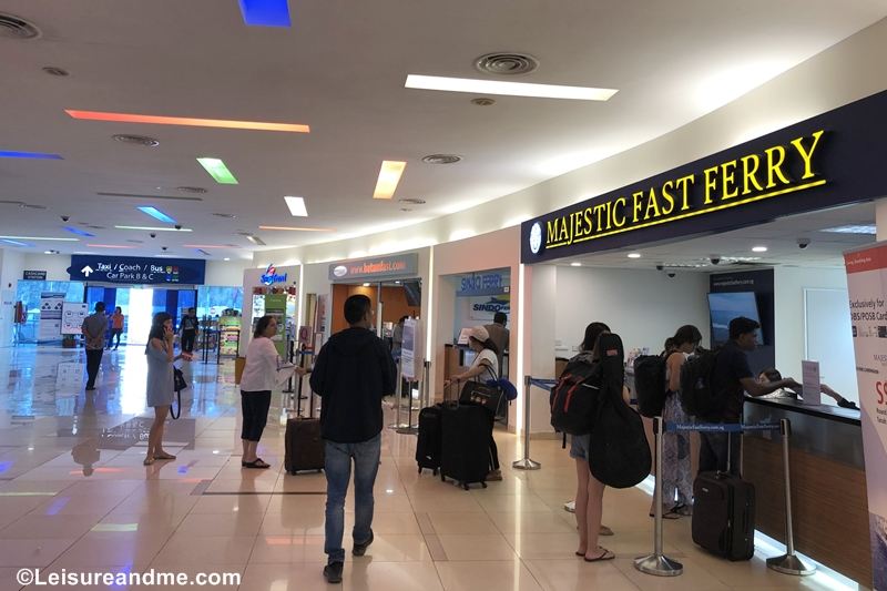 Majestic Fast Ferry Counter at Tanah Merah Ferry Terminal