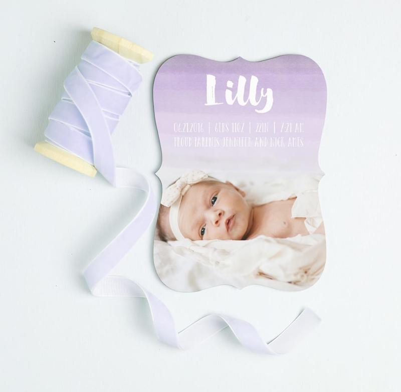 Etiquettes of Birth Announcements